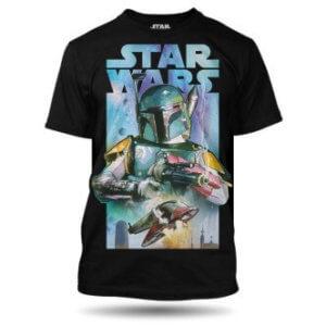 Tričko s potiskem Star Wars Boba Fett pánské