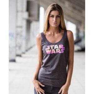 Tílko s potiskem Star Wars Color logo dámské