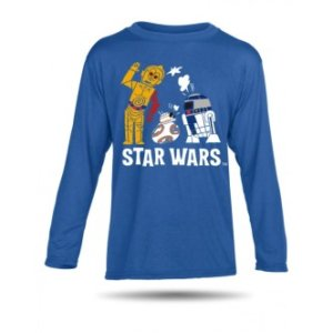 Tričko s potiskem Star Wars Robots dětské