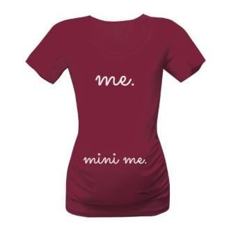 Těhotenské tričko s potiskem Me mini me