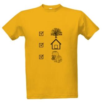 Tričko s potiskem pro tatínky Zasaď strom