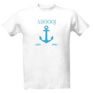 Tričko pro vodáky s potiskem Ahoooj