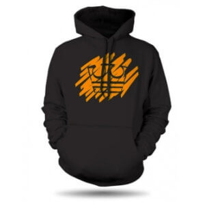 Jirka Král mikina černá s oranžovou korunou