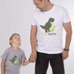 Set triček s potiskem Tátosaurus & Synosaurus