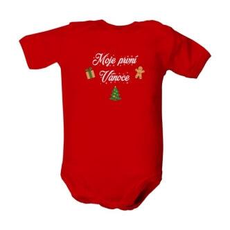Dětské body s potiskem Moje první Vánoce