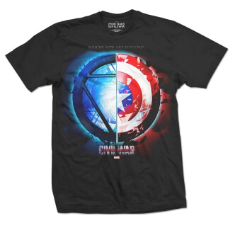Tričko s potiskem Marvel Comics Captain America Civil War Whose Side