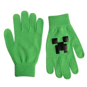 Pletené rukavice Minecraft Creeper
