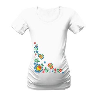 Těhotenské tričko s potiskem Folklór