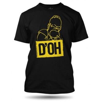 Tričko s potiskem Homer D'OH pánské