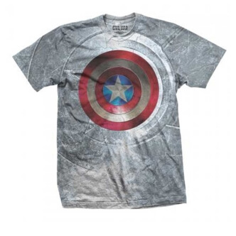 Tričko s potiskem Marvel Comics Captain America Civil War Shield