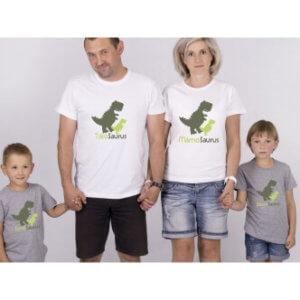 Rodinná trička s potiskem Rodinosaurus