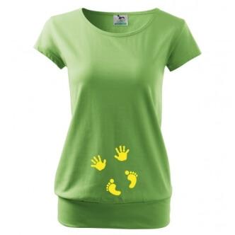 Těhotenské tričko s potiskem Otisky