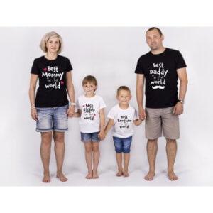 Rodinná trička s potiskem Best Family In The World