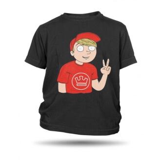 4a19b8002643 Dětské černé tričko Jirka Král komiks