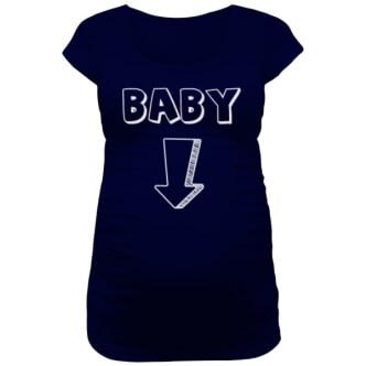 Těhotenské tričko pro páry s potiskem Baby