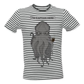 Pruhované tričko s potiskem I'm Captain here