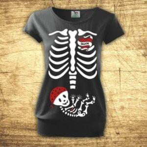 Těhotenské tričko s potiskem RTG kluk
