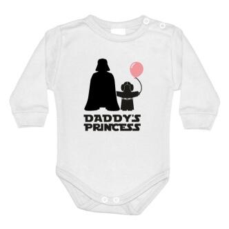Dětské body s potiskem Star Wars Daddys Princess