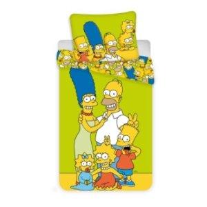 Dětské bavlněné povlečení s potiskem Simpsonovi 140x200