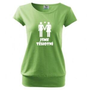 Těhotenské tričko s potiskem Jsme těhotní