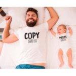 Dětské body a pánské tričko Copy paste