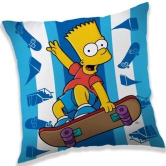 Polštářek s potiskem Bart Simpson skater
