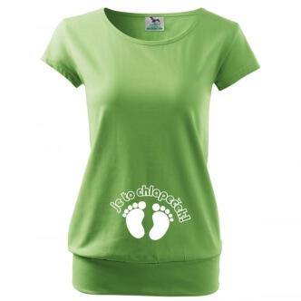 Těhotenské tričko s potiskem Je to chlapeček