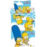 Povlečení Simpsons Family clouds 140x200