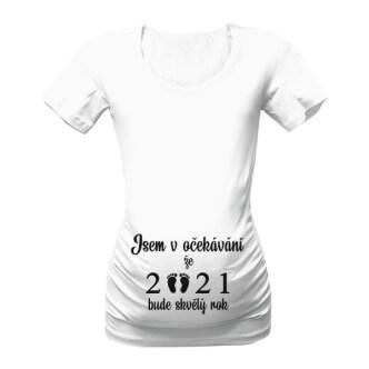 Těhotenské tričko s potiskem Očekávání
