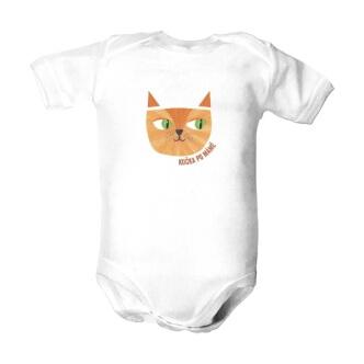 Dětské body s potiskem Kočka po mámě
