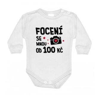 Dětské body s potiskem Focení 100 Kč