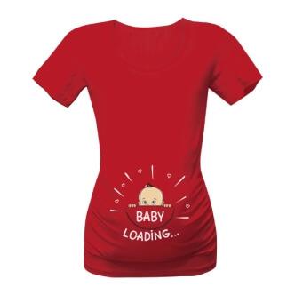 Těhotenské tričko s potiskem Baby loading