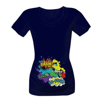Těhotenské tričko s potiskem Pop Art