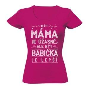 Tričko s potiskem Babička je lepší