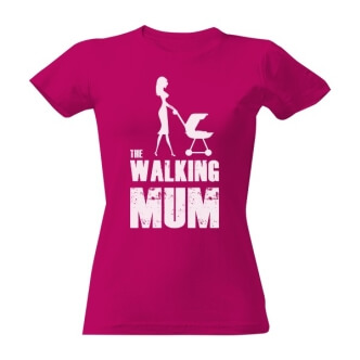 Tričko s potiskem The walking mum