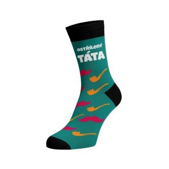 Ponožky s potiskem Ostřílený Táta