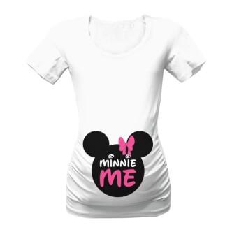 Těhotenské tričko s potiskem Minnie Me