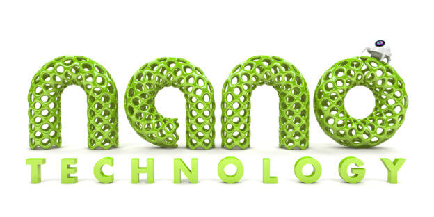 Text nano TECHNOLOGY na bílém pozadí
