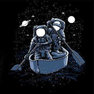Tričko na vodu s potiskem Across The Galaxy