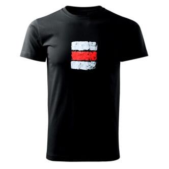 Tričko s potiskem Turistická značka červená