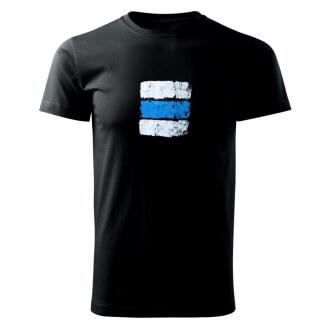 Tričko s potiskem Turistická značka modrá
