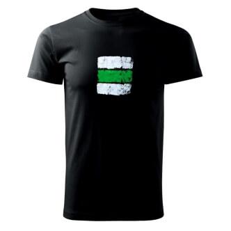 Tričko s potiskem Turistická značka zelená