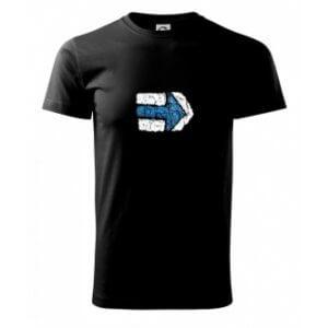 Pánské tričko s potiskem Turistická šipka modrá