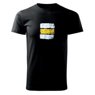 Tričko s potiskem Turistická značka žlutá