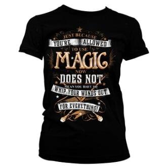 Dámské tričko s potiskem Harry Potter Magic