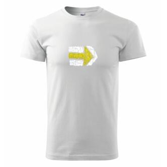 Pánské tričko s potiskem Turistická šipka žlutá